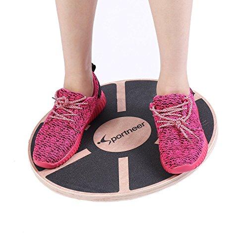 Sportneer® Tablett von Gleichgewicht/-brett Therapie/Balance Board/Sitzkissen Gleichgewicht Professionel aus Holz für die Übung, Gym, Sport Performance Enhancement, Rehab, Ausbildung